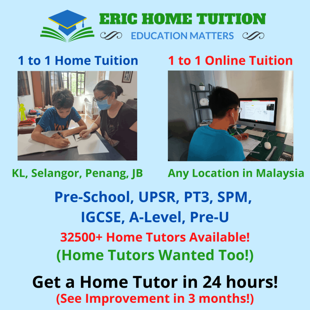 1 to 1 home tuition/ online tuition malaysia